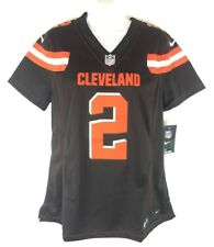 Nike Limited Womens Johnny Manziel Cleveland Browns Sewn Brown Jersey Sz L b56521834
