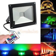 20W 16 Colour Changing RGB LED Floodlight Outdoor Garden Security Spotlight