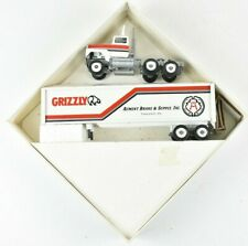 Winross 1988 Grizzly Aument Brake Supply Semi Truck and Trailer 1:64 Scale NIB