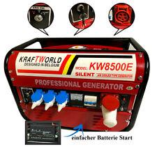 Stromerzeuger Benzin Notstrom Generator Aggregat KW8500 E-STARTER inkl. Batterie