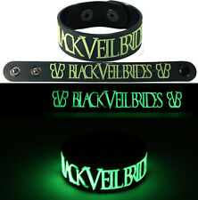 BLACK VEIL BRIDES  NEW! Bracelet Wristband gg1 Glow in the Dark Free Shipping