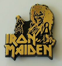 IRON MAIDEN KILLERS SHAPED PLASTIC PIN BADGE FROM THE 1980's OLD VINTAGE RETRO