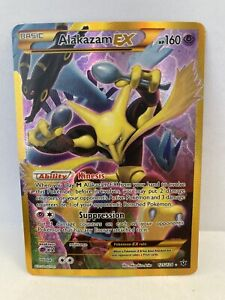 Pokemon TCG XY Fates Collide Alakazam EX Gold Secret Rare 125/124 Pack Fresh