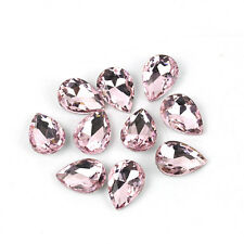 10 Faceted Teardrop glass crystal Charm Almond Shaped Loose Spacer beads Jewelry