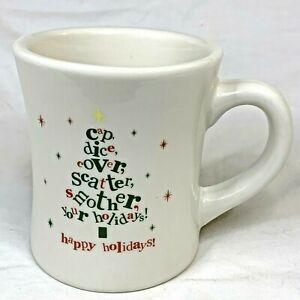 2012 Waffle House Coffee The Big Mug/Cup By Tuxton Holiday Christmas