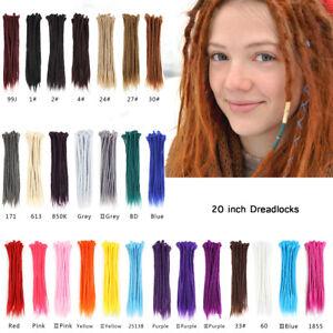 "20"" Handmade Dreadlocks SE Dreads Locs Synthetic Looped Braiding Hair Extensions"