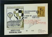 Great Britain 1973 Balloon Meet Cover / Signed (I) - Z2108