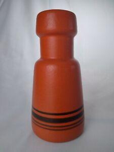 Orange Beit Hayotser Israeli Pottery Mid Century Modern Vase