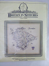 Brittain in Stitches Map of Devonshire Counted Cross Stitch Heritage Stitchcraft