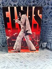 "NOS ELVIS PRESLEY ""WHITE JUMPSUIT RED BACKGROUND"" POSTCARD"