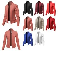 FashionOutfit Women's Solid Classic Lightweight Shrug Blazer Jacket  Made in USA