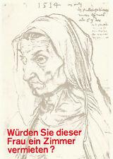 Kunstpostkarte - Klaus Staeck : Sozialfall / Würden Sie dieser Frau ... / 1971