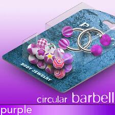 Circular Barbells Bonus Pack w/ 10 Pairs of Purple UV Balls