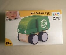 Plan Toys Mini Garbage Truck . NEW