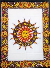 Psychedelic Tapestry Cotton Sun Star Mandala Throw Wall Hanging Gypsy Art Poster