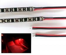 RED LED FOOTWELL LIGHTING 2x40CM STRIPS - DOUBLE DENSITY - BRIGHTER