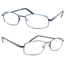 High Quality Spring Hinge Metal Reading Glasses Clear Lens Readers