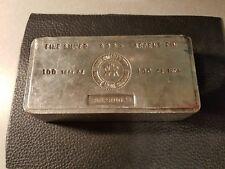 *RARE* 100 Troy Ounce ROYAL CANADIAN MINT 999+ Fine Silver Bar (Serial# B028002)
