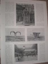 Printed photos cage punishment Shanghai and Peking skating club China 1900