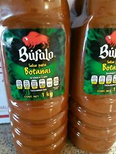 Salsa Bufalo Botanas Snacks Mexican Hot Sauce Lot of 2 Large Bottles 1 kg