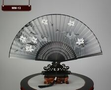 Bamboo Silk Chinese Japanese Handheld Foldable Fan With Cover