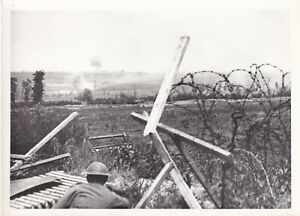IWM Press Photo WW1 Battle of Messines soldier looks over Douve Valley 8.6.1917