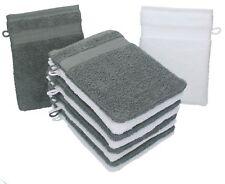 """10er Pack Waschhandschuhe """"Premium"""" Farbe: Anthrazit & Weiß, 0892"""