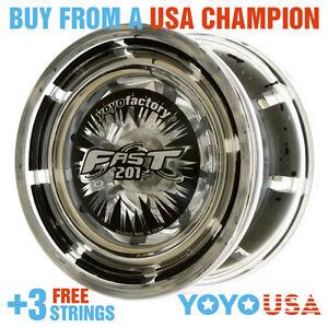 [WINTER SALE] YoYoFactory FAST/F.A.S.T. 201 Yo-Yo - Black + STRINGS