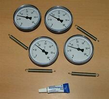 4 Anlegethermometer Set Ø63mm -60°C + Wärmeleitp.(5277#