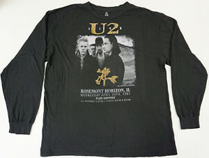U2 Live Long Sleeve T-shirt Joshua Tree Rosemont Horizon IL Tee Men's XL New