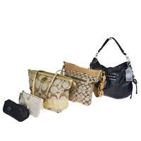 Auth Coach Signature 5-piece Set Canvas,Leather Shoulder Bag Brown 03GC223