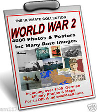 4000 Alied Axis World War 2 Photos Maps Posters British German US Japanese etc