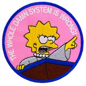 Lisa Simpson Iron On Patch Damn System Sew TV Movie Cartoon Costume Kids