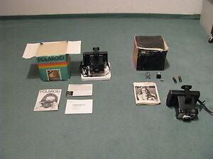 POLAROID INSTAPACK 80 VON 1973 UND INSTAND 10 VON 1978 IN ORIGINALVERPACKUNG !