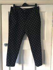 Old Navy Black Spotty Cropped Trousers US Size 16 UK Size 18
