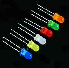 Diffused 5mm LED White, Red, Blue, Green, Yellow, Orange Light Bulb