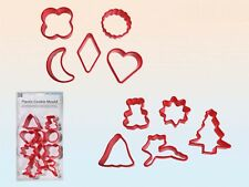 2set 20 Ausstechformen für Plätzchen Kunststoff Weihnachten Rentier Mond Glocke