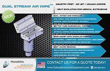 DUAL STREAM AIR WIPE - INDUSTRY FIRST - AIR JET + VACUUM AIRWIPE