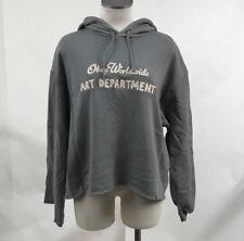 Obey Women's Hoodie Sweatshirt Art Department Stone Grey SM NEW Shepard Fairey