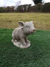 Solid concrete sitting pig,garden ornament,pigs,COLLECTION ONLY