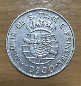 S.TOME E PRINCIPE SILVER 10$00 -1939 NICE+++++