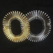 Pack 2 Flexi pelo Peines Oro y Plata Plástico Zigzag Dientes Diadema flexicomb