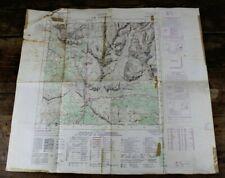 CARTA TOPOGRAFICA Le Tofane CARTINA MAPPA per uso militare Vintage D'epoca MAPS