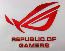 ASUS REPUBLIC OF GAMERS RED Metal Aufkleber / Sticker 50 x 42mm [717]