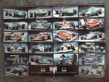 """22"""" x 16"""" POSTER - F1 - CHAMPION SPARK PLUGS 50 YEARS 350 VICTORIES"""