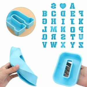 Silicone Letter Molds Epoxy Resin Mold Large Alphabet Mould Casting Mold