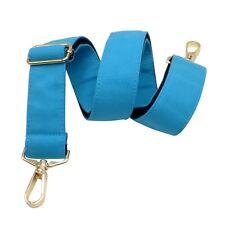 BENAVA Taschengurt Schultergurt für Taschen Canvas Gepolstert Blau Unifarben