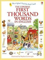 Usborne First Thousand Words in English, Paperback by Amery, Heather; Cartwri...