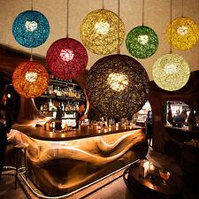 Modern 20/30/40cm Rattan Wicker Ball Ceiling Light Pendant Shade Lampshade Home