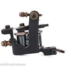 Professional Black Iron 12 Wrap Coils Tattoo Machine Liner Gun Classic Frame